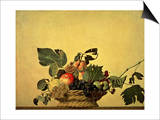 Basket with Fruit, circa 1596 Print by  Caravaggio