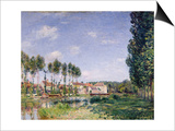 Banks of the Loing, Moret, 1892 Art by Alfred Sisley
