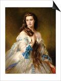 Portrait of Madame Rimsky-Korsakov (1833-78) Nee Varvara Dmitrievna Mergassov, 1864 Poster by Franz Xaver Winterhalter