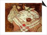 Breakfast, C.1902 Affiche par Edouard Vuillard