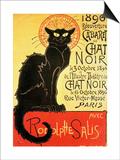 Reopening of the Chat Noir Cabaret, 1896 Posters av Théophile Alexandre Steinlen