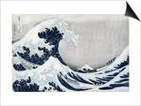 The Great Wave of Kanagawa, from the Series '36 Views of Mt. Fuji' ('Fugaku Sanjuokkei') Art by Katsushika Hokusai