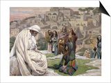Jesus Wept, Illustration for 'The Life of Christ', C.1886-96 Print by James Tissot