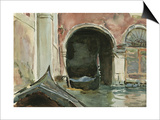 Venetian Canal Print by John Singer Sargent