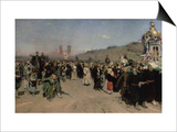Religious Procession in the Province of Kursk, 1880-83 Prints by Ilya Efimovich Repin