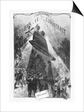 "Frontispiece of ""Robur Le Conquerant"" by Jules Verne Paris, Hetzel, 1886 Posters by L Bennet"