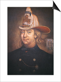 Benjamin Franklin Wearing the Uniform of the Union Fire Company Which He Founded in Philadelphia Prints by  American