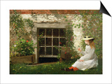 The Four Leaf Clover, 1873 Prints by Winslow Homer