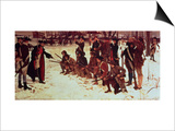 Baron Von Steuben Drilling American Recruits at Valley Forge in 1778, 1911 Prints by Edwin Austin Abbey