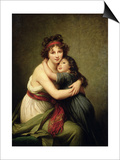 Madame Vigee-Lebrun and Her Daughter, Jeanne-Lucie-Louise (1780-1819) 1789 Posters par Elisabeth Louise Vigee-LeBrun