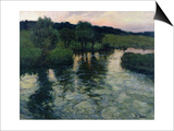 Landscape with a River Posters by Fritz Thaulow