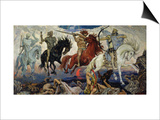 The Four Horsemen of the Apocalypse, 1887 Prints by Victor Mikhailovich Vasnetsov