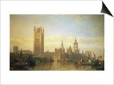 New Palace of Westminster from the River Thames Posters by David Roberts
