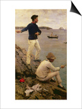 Fisher Boys, Falmouth, 1885 Posters by Henry Scott Tuke