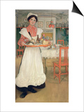 Martina Carrying Breakfast on a Tray, 1904 Posters by Carl Larsson