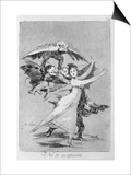 193-0082172 You Will Not Escape, Plate 72 of 'Los Caprichos', 1799 (Etching) Posters by Francisco de Goya