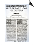 Extract of the Hippocratic Oath in Latin and Greek, 1588 (Vellum) Posters by  Italian