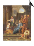 Christ in the House of Martha and Mary Prints by Jean-Baptiste Jouvenet
