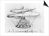 Detail of a Design For a Flying Machine, c.1488 Posters by  Leonardo da Vinci