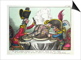 The Plum Pudding in Danger, 1805 Posters by James Gillray