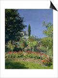 Flowering Garden at Sainte-Adresse, circa 1866 Art by Claude Monet