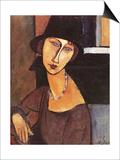Jeanne Hebuterne Wearing a Hat, 1917 Prints by Amedeo Modigliani