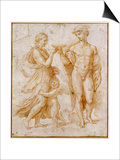 Mercury Offering the Cup of Immortality to Psyche Posters by  Raphael