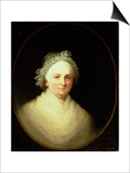 Portrait of Martha Washington Posters by Jane Stuart