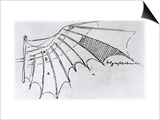 Detail of a Mechanical Wing, 1488-89 Print by  Leonardo da Vinci