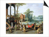 A Satire of the Folly of Tulip Mania Prints by Jan Brueghel the Younger