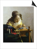 The Lacemaker, 1669-70 Posters by Jan Vermeer