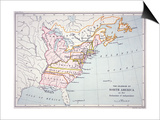Map of the Colonies of North America at the Time of the Declaration of Independence Prints by  American