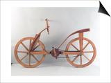 Rekonstruktion von Da Vincis Entwurfs eines Fahrrads Kunstdrucke von  Leonardo da Vinci