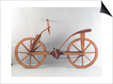 Reconstruction of Da Vinci's Design for a Bicycle Posters by  Leonardo da Vinci