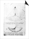 Studies of Concav Mirrors of Constant and Parabolic Curvatures, from the Codex Arundel, 1490S-1518 Prints by  Leonardo da Vinci