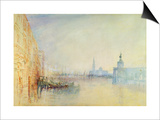 Venice, the Mouth of the Grand Canal, C.1840 (W/C on Paper) Print by J. M. W. Turner