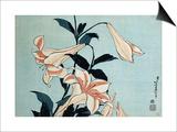 Trumpet Lilies Poster by Katsushika Hokusai