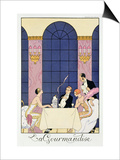 The Gourmands, 1920-30 Prints by Georges Barbier