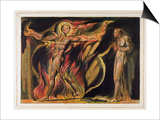 A Naked Man in Flames, Plate 26 from 'Jerusalem', 1804-20 Posters by William Blake