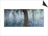 Waterlilies: Morning with Weeping Willows, Detail of the Right Section, 1915-26 Prints by Claude Monet
