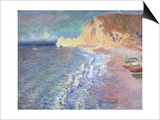 Morning at Etretat, 1883 Posters by Claude Monet