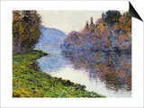 The Seine at Jenfosse, 1884 Poster by Claude Monet