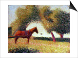 The Harnessed Horse, 1883 Art by Georges Seurat