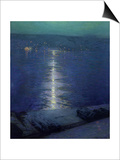 Moonlight on the River, 1919 Print by Lowell Birge Harrison