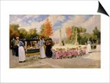 Promenade Des Enfants Prints by Timoleon Marie Lobrichon
