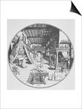 The Alchemist in His Laboratory, from Amphitheatrum Aeternae Sapientiae by Heinrich Kunrath Print