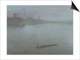 Thames - Nocturne in Blue and Silver, c.1872/8 Prints by James Abbott McNeill Whistler
