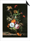 Still Life of Summer Flowers Poster by Rachel Ruysch