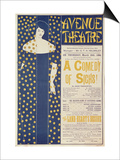 Poster Advertising A Comedy of Sighs, a Play by John Todhunter, 1894 Art by Aubrey Beardsley
