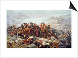 The Last Stand of the 44th Regiment at Gundamuck during the Retreat from Kabul, 1841, 1898 Prints by William Barnes Wollen